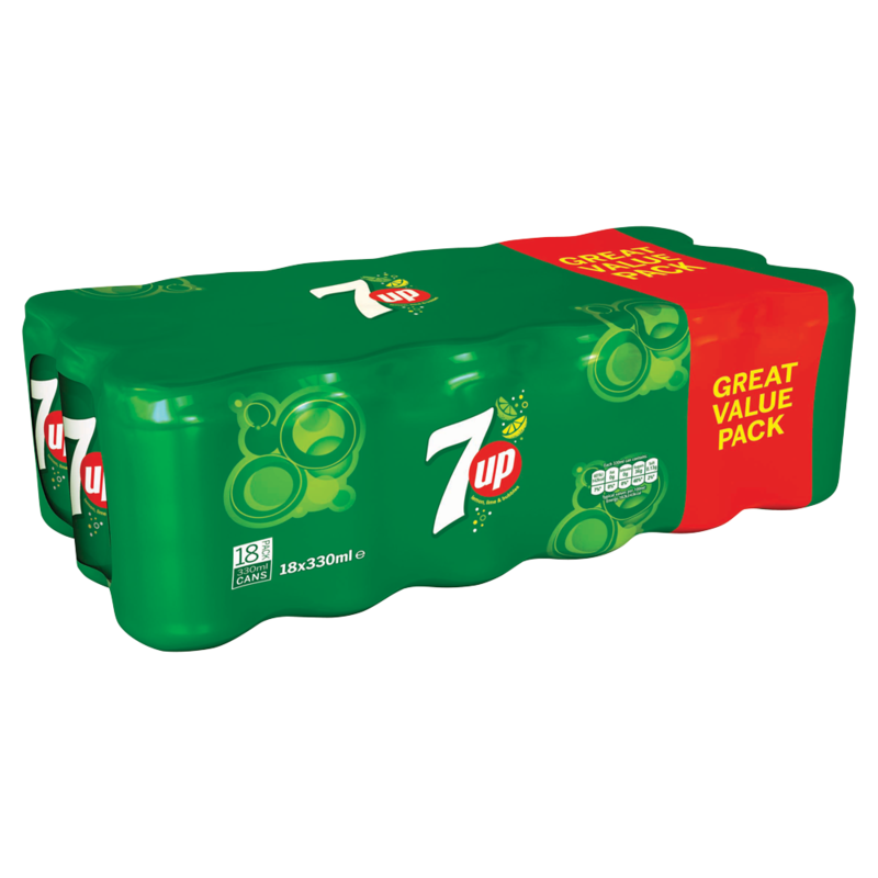 7UP Lemon  Lime and Bubbles 18 x 330ml