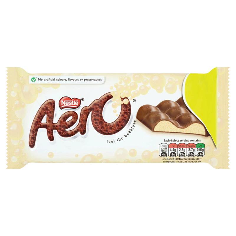 Aero Bubbly White Chocolate Sharing Bar 100g