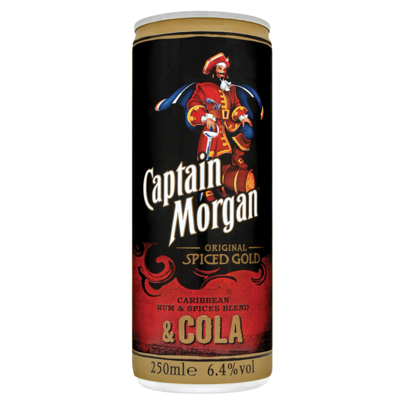 Captain Morgan Original Spiced Gold Caribbean Rum   Spices Blend   Cola 250ml