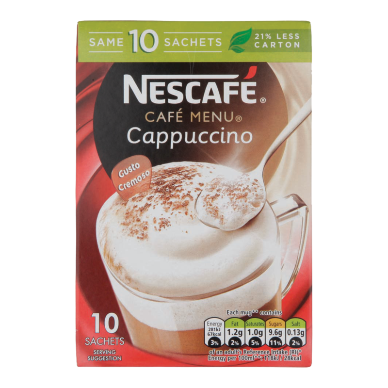 Nescafe Cafe Menu Capp