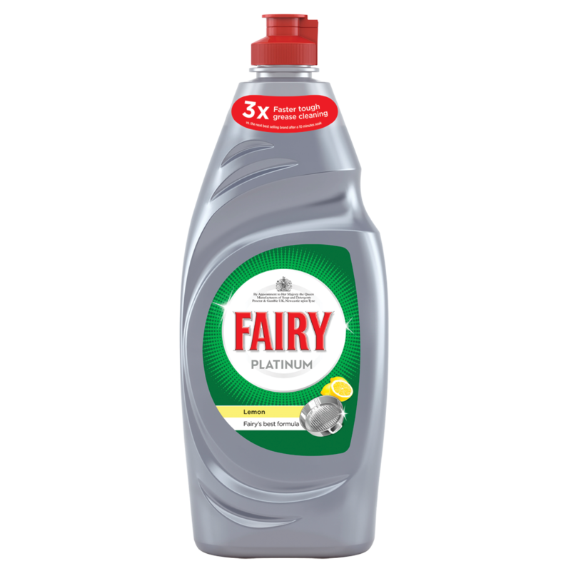 Fairy Platinum Washing Up Liquid Lemon 615ML