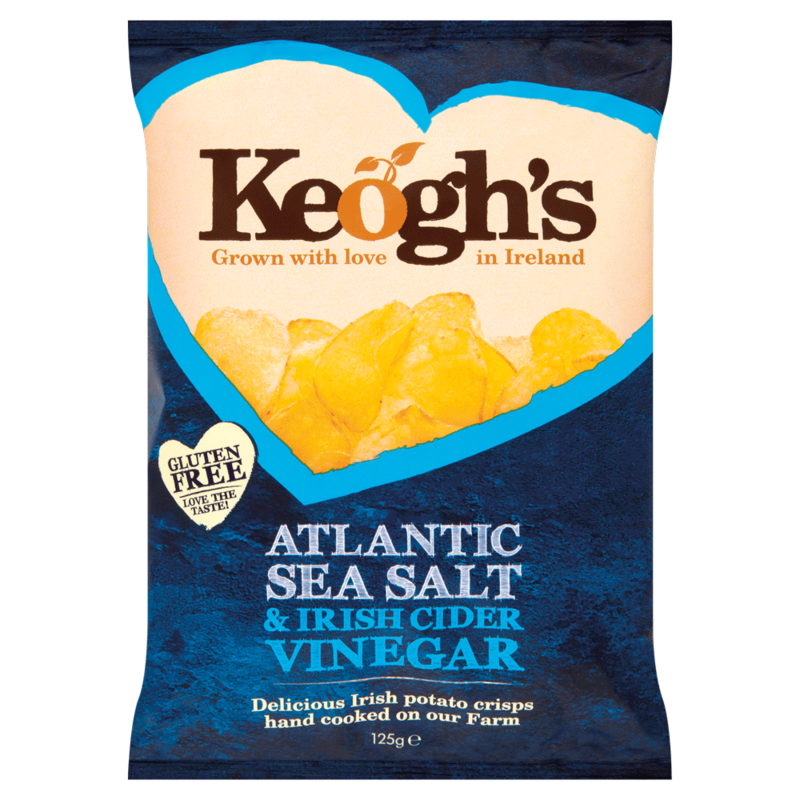 Keogh s Atlantic Sea Salt   Irish Cider Vinegar 125g
