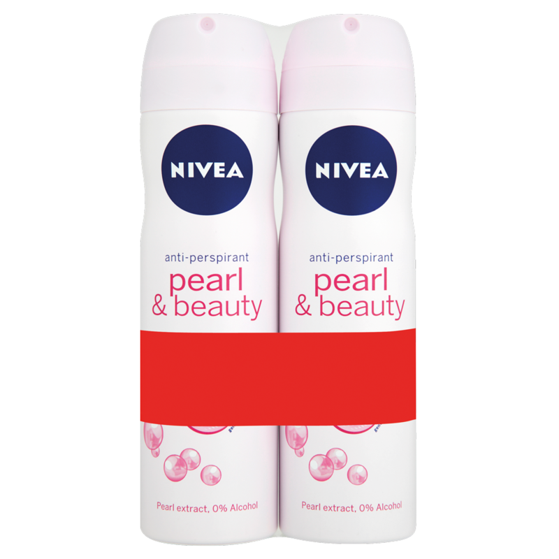 NIVEA Pearl   Beauty 48h Anti Perspirant 2 x 150ml