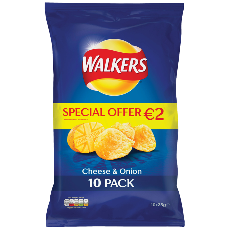 Walkers Cheese Onion 10pk 10x25g PMP 2