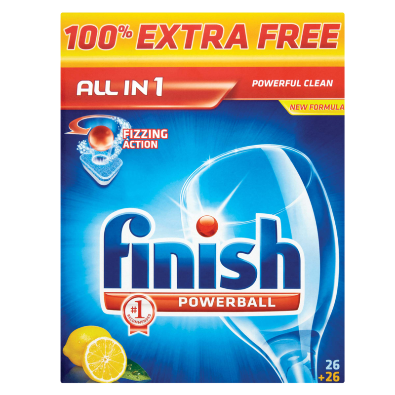 Finish Powerball All in 1 Fizzing Action 26 Tablets 1029g
