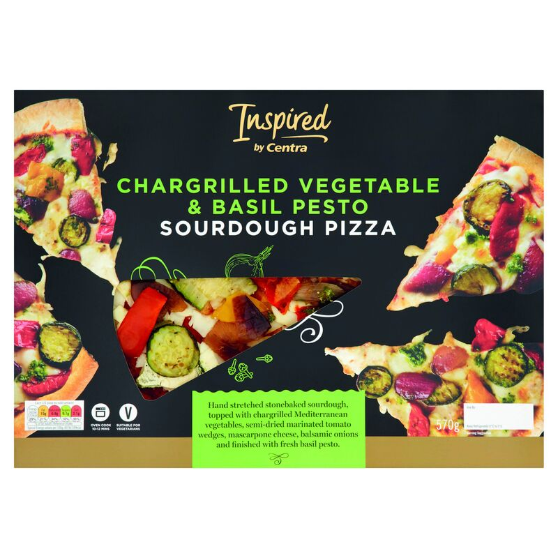 Inspired by Centra Chargrilled Vegetable Basil Pizza