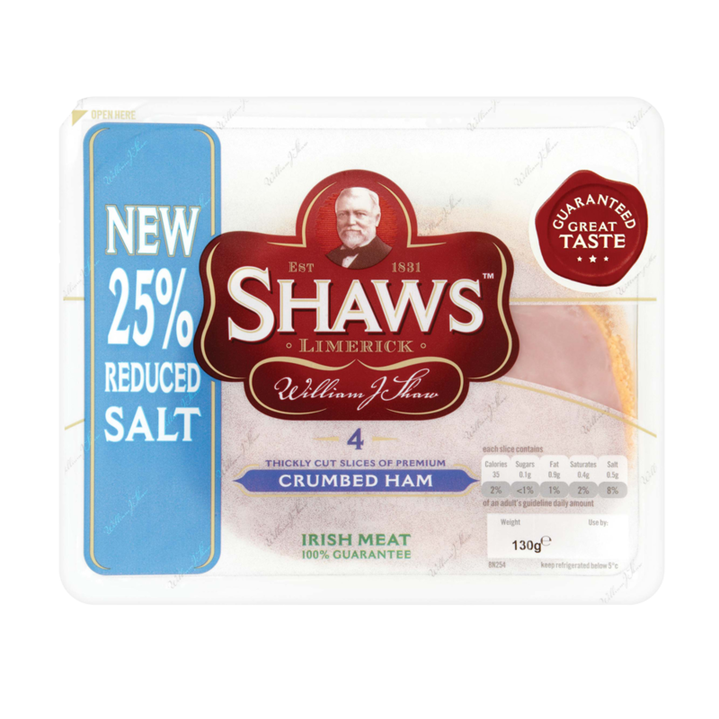Shaws Crumbed Ham 4 Slices 130g