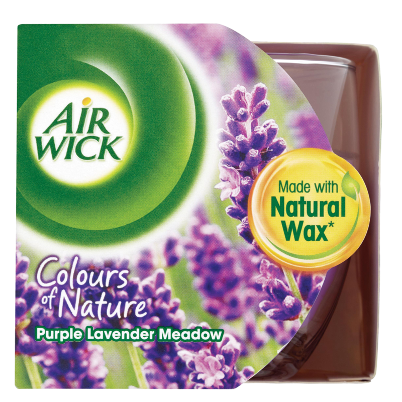 Air Wick Colours of Nature Purple Lavender Meadow Candle 115g