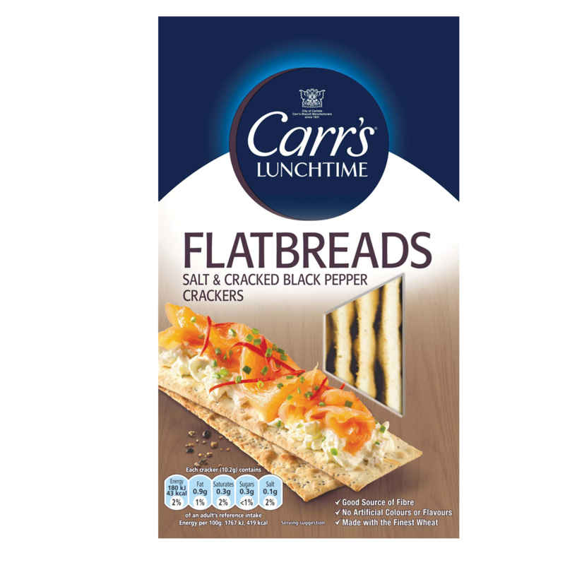 CARRS FLATBREADS SALT AND PEPPER