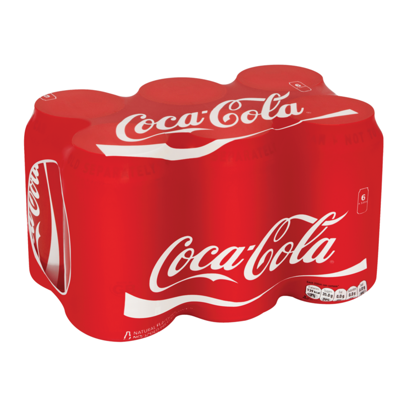 Coca Cola 6 x 330ml Cans