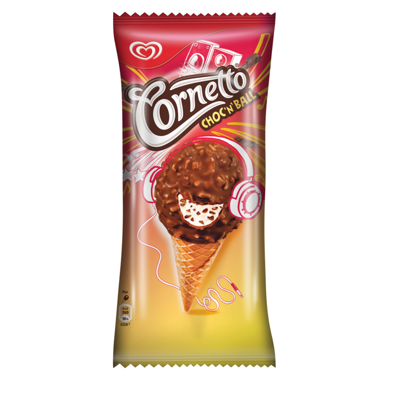 Cornetto Choc  n  Ball Ice Cream Cone 160ml