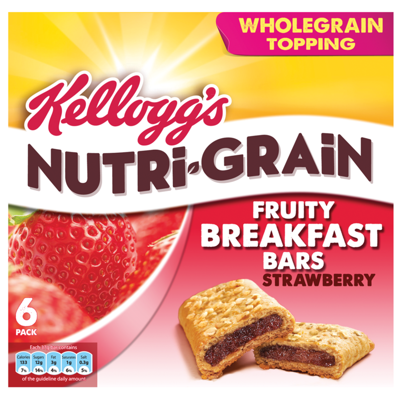 Kellogg s Nutri Grain Soft and Fruity Strawberry 6 x 37g