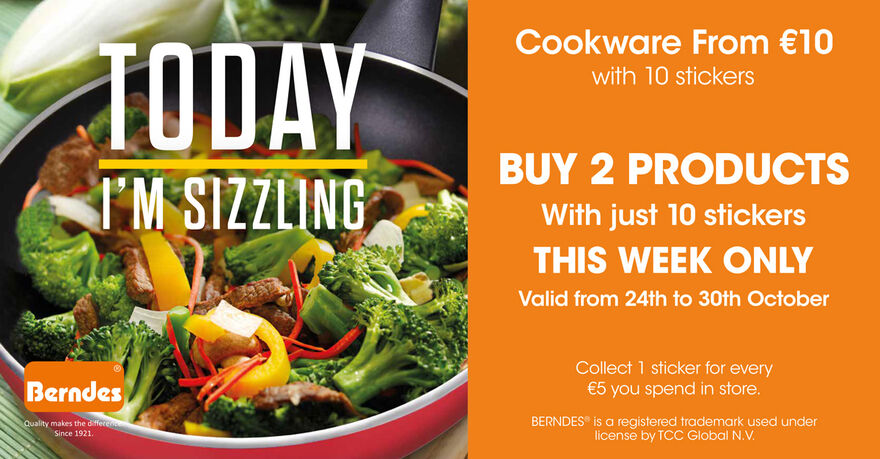 Get Sizzling with quality Berndes cookware!