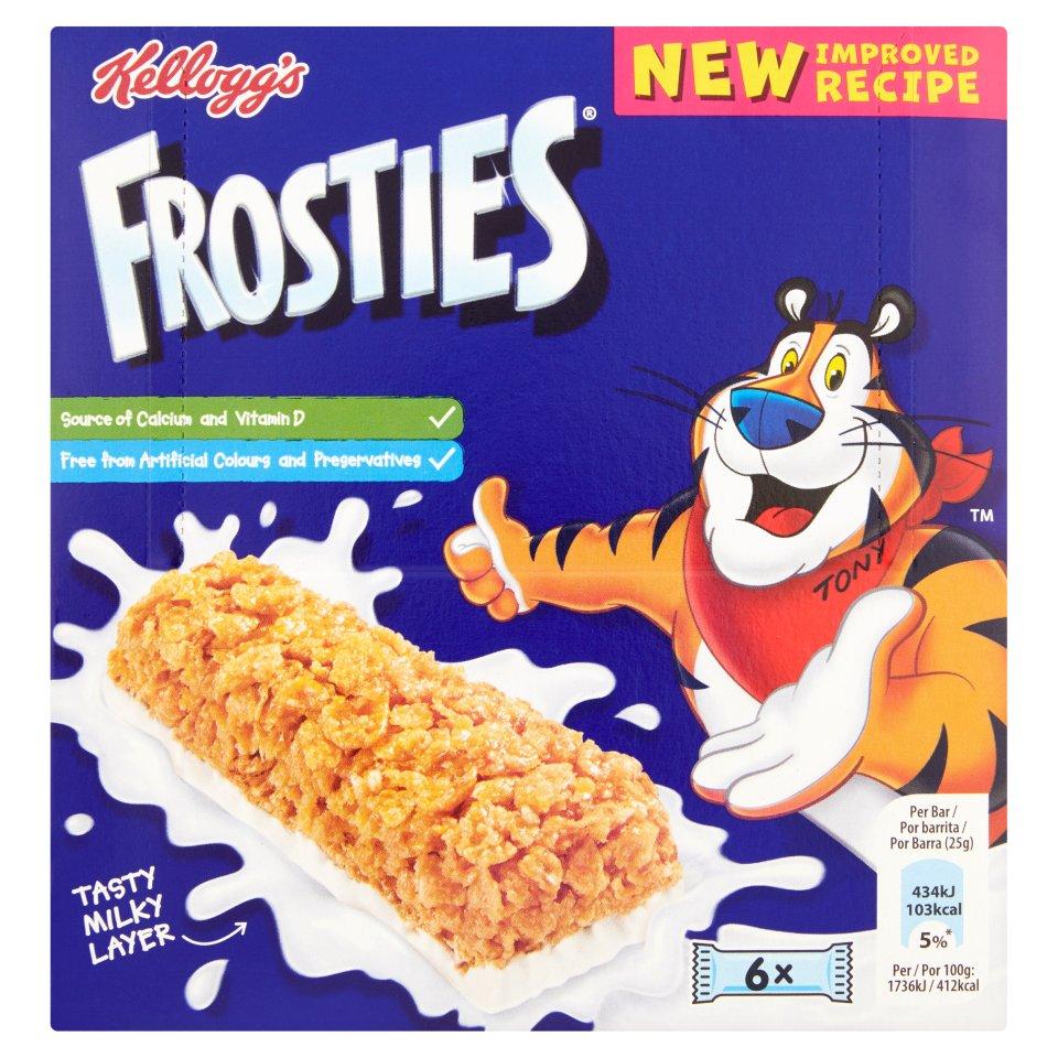 Kellogg's Frosties Cereal & Milk Bar 6 Pack 150g