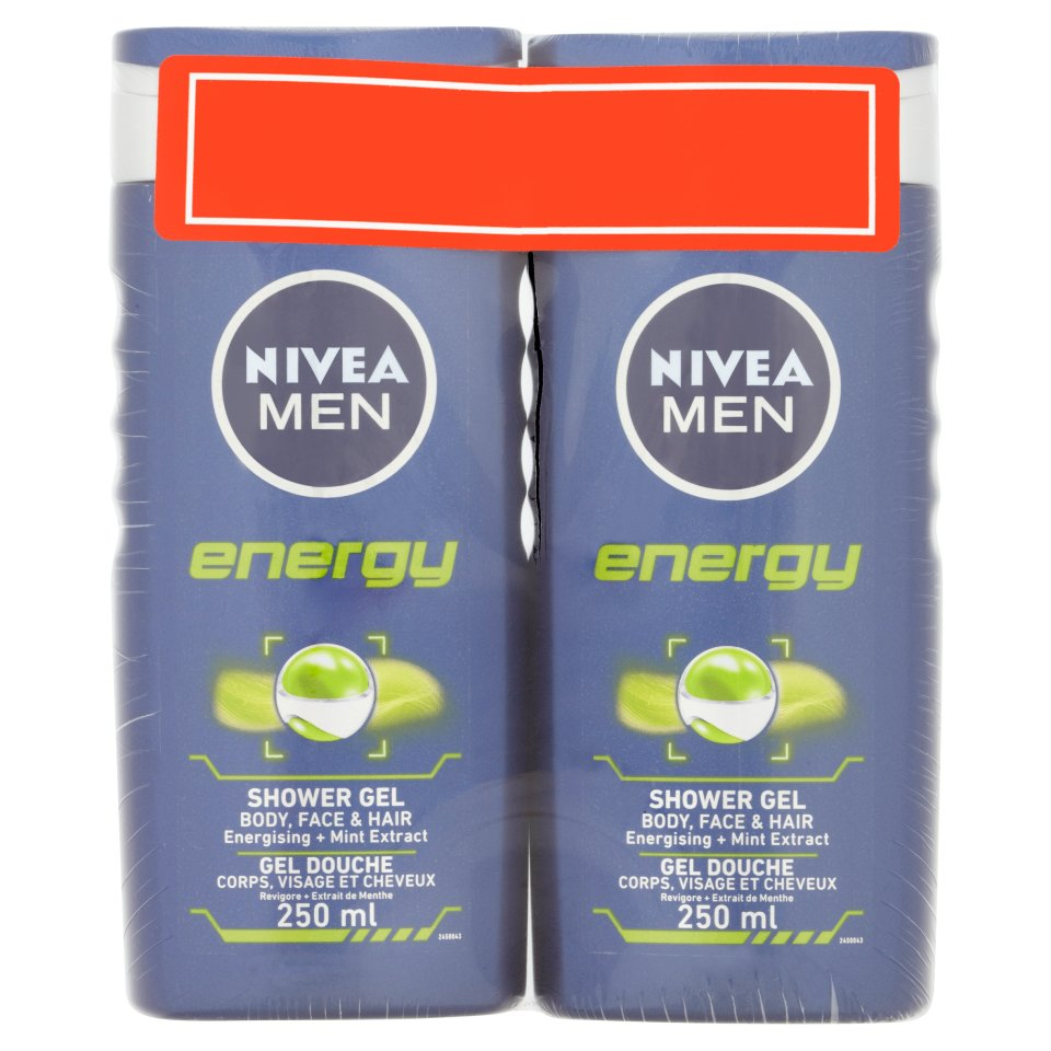 Nivea Men Energy Shower Twin Pack 250ml Centra Close Up Mentol Fresh 160gram