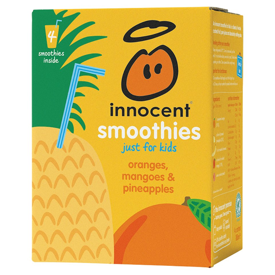 Innocent Oranges Mangoes Amp Pineapple Smoothie For Kids